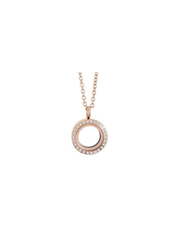 Mini Rose Gold with Crystals Locket
