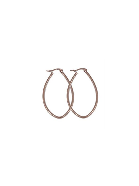 Rose Gold Oval Hoop Earrings