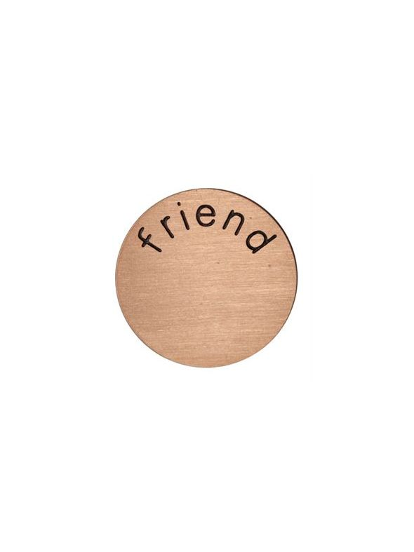 'Friend' Medium Rose Gold Coin