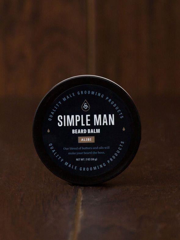 Simple Man Alibi Beard Balm 2 oz